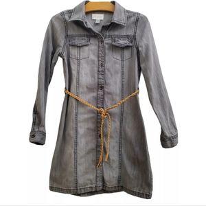 The Children's Place Gray Belted Shirt Dress KI40